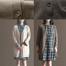 Load image into Gallery viewer, nude vintage rabbit wool blended sweater coats plus size casual long sleeve knit cardigans