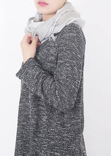 Load image into Gallery viewer, original design gray patchwork scarves women Jacquard wild shawl