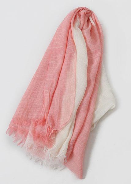 pink sunscreen cotton blended scarf double color fall scarves