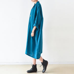 plus size linen dresses 2017 trend blue oversize shirts caftans fall outfits