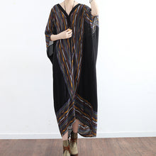 Load image into Gallery viewer, print sundress flowy chiffon beach dresses oversize caftans plus size gown