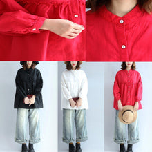 Load image into Gallery viewer, red casual cotton tops