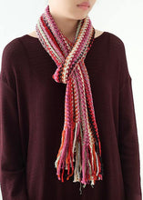 Load image into Gallery viewer, red winter women warm scarf National style knit scarves
