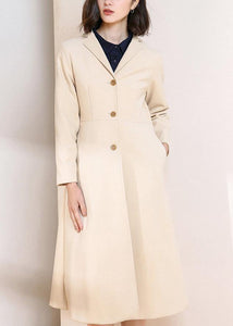 slim Fine spring coats women blouses nude Plus Size Clothing coat