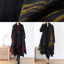 Load image into Gallery viewer, spring coat fashion yellow print asymmetric coats