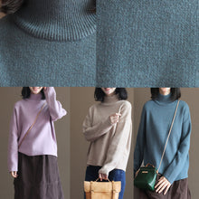 Load image into Gallery viewer, stylish gray blue winter sweater fall fashion pullover Fine thick warm winter  pullover