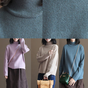 stylish gray blue winter sweater fall fashion pullover Fine thick warm winter  pullover