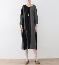 Load image into Gallery viewer, the lost 2017 strip cotton caftans fashion cotton dresses long oversized casual outfits