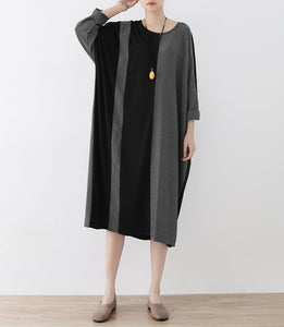 the lost 2017 strip cotton caftans fashion cotton dresses long oversized casual outfits