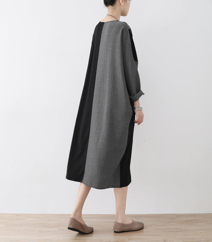 the lost 2021 strip cotton caftans fashion cotton dresses long oversized casual outfits