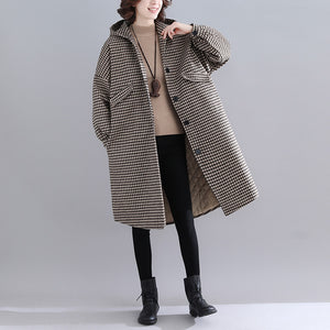 thick plaid womens parkas trendy plus size hooded warm winter coat Luxury long sleeve winter coats