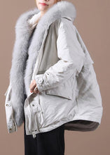 Load image into Gallery viewer, top quality Loose fitting warm winter coat hooded drawstring parkas