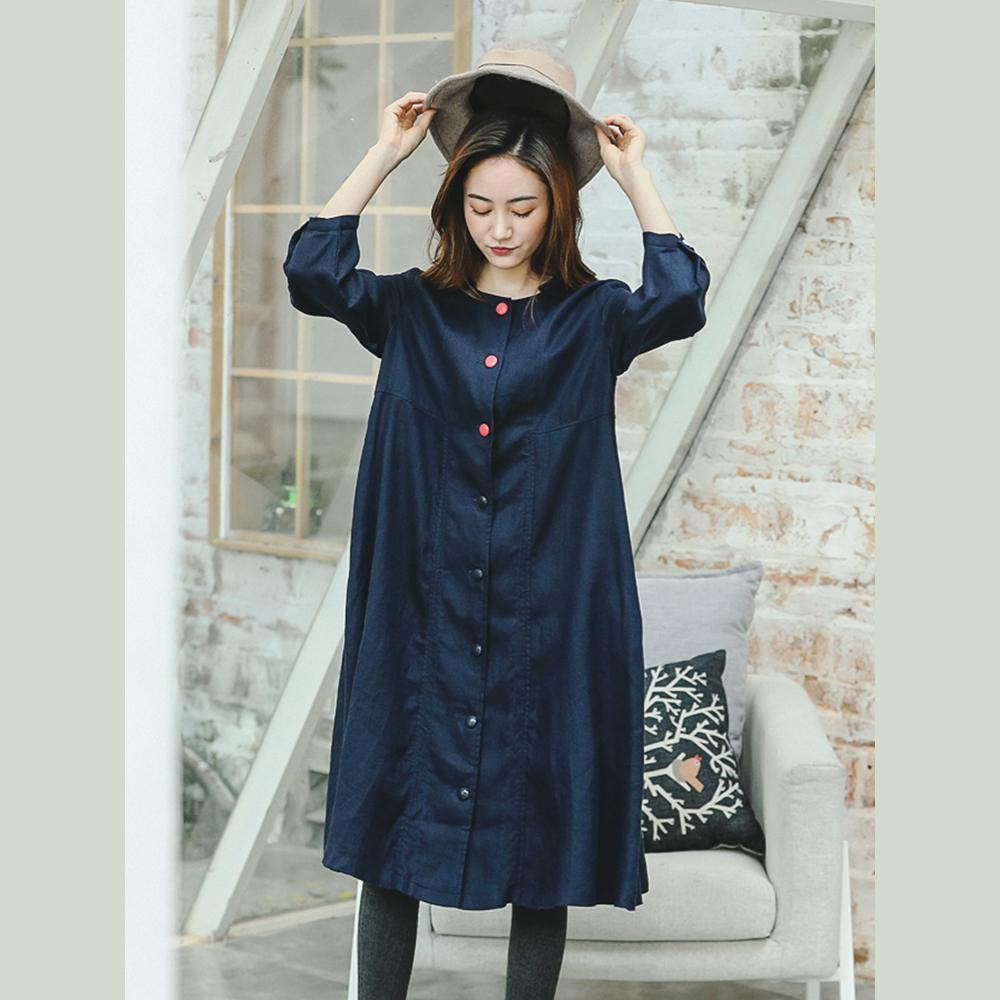 top quality blue maxi coat plus size clothing peter pan Collar Winter coat  boutique long sleeve baggy Coat