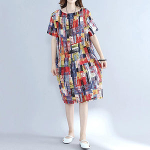 top quality multi color pure cotton dresses oversize shirt dress top quality slim fit o neck cotton dresses