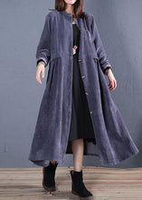 Load image into Gallery viewer, top quality navy coats plus size fall o neck pockets long coat