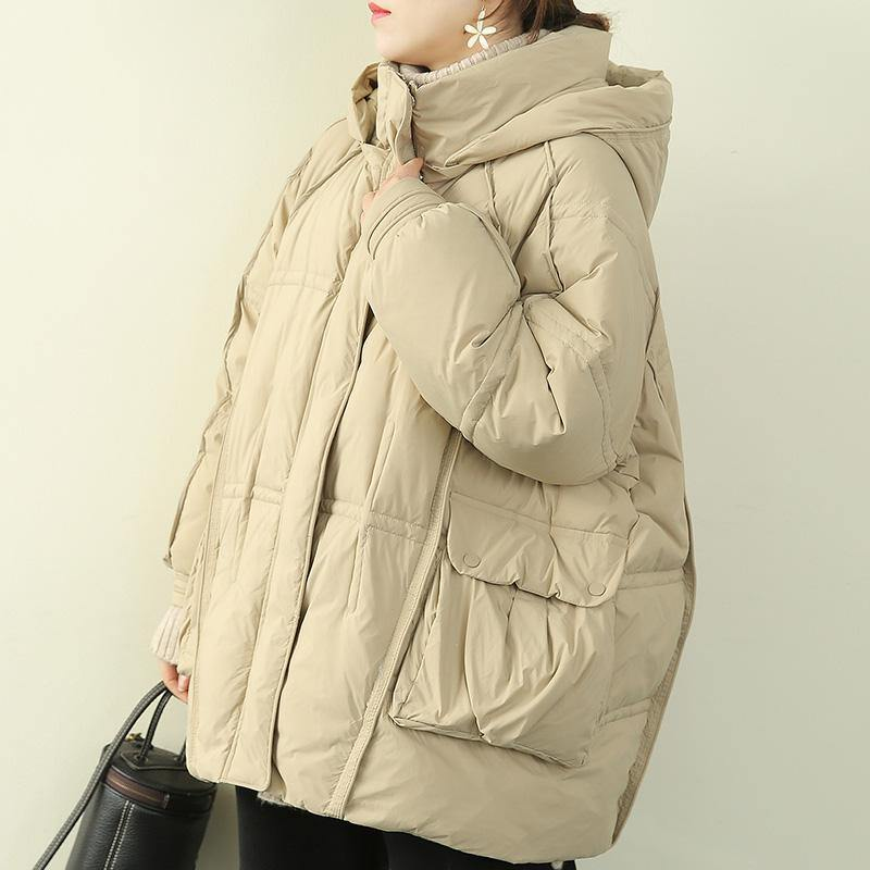 plus size snow jackets coats khaki hooded patchwork warm coat