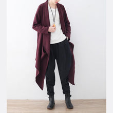 Load image into Gallery viewer, vintage burgundy wool coat oversized Jackets & Coats boutique maxi coat