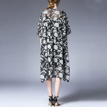 Load image into Gallery viewer, vintage summer dress Loose fitting Loose Summer Two Pieces 12 Sleeve Printed Dress