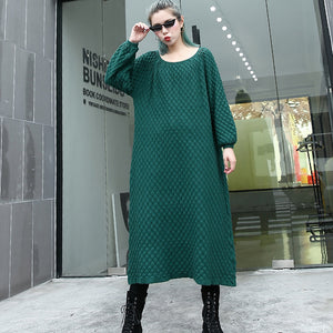 warm green sweater dresses casual O neck pullover sweater top quality long sleeve sweater