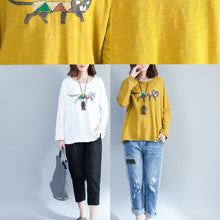 Load image into Gallery viewer, white fashion cotton tops oversize long sleeve blouse