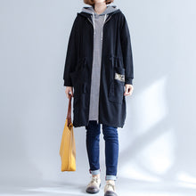 Load image into Gallery viewer, winter prints cotton sport cardigans oversize casual side open coat