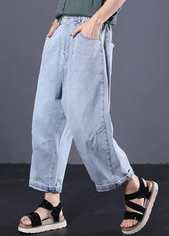 women casual cotton pants plus size vintage jeans