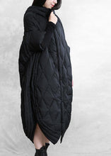 Load image into Gallery viewer, women casual down jacket overcoat black hooded zippered goose Down coat