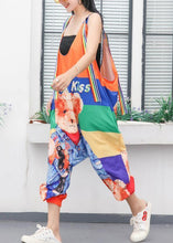 Load image into Gallery viewer, women jumpsuit cartoon print loose slimming harem strap pants