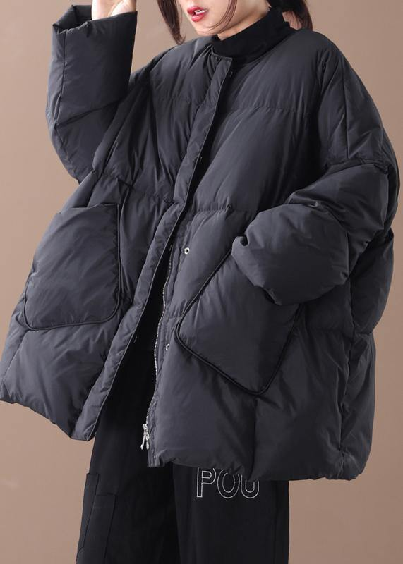 women oversized winter jacket winter coats black Button Down down coat