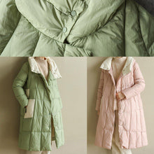 Load image into Gallery viewer, women pink warm winter coat plus size clothing patchwork womens parka stand collar top quality coats