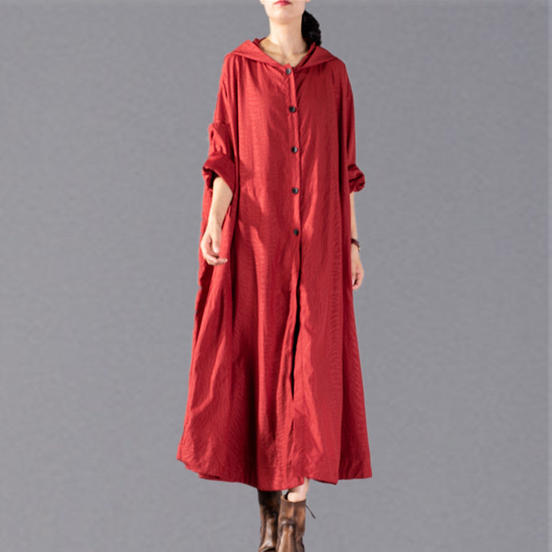 women red Winter coat plus size clothing hooded fashion Coats Elegant baggy Coats