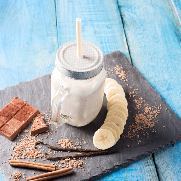 Banana Chocolate and Cinnamon Shake