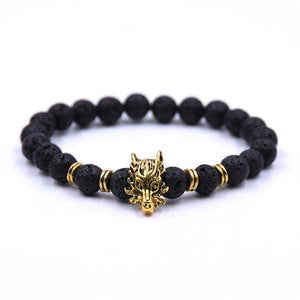 The Dragon - Natural Lava Stone Bracelet
