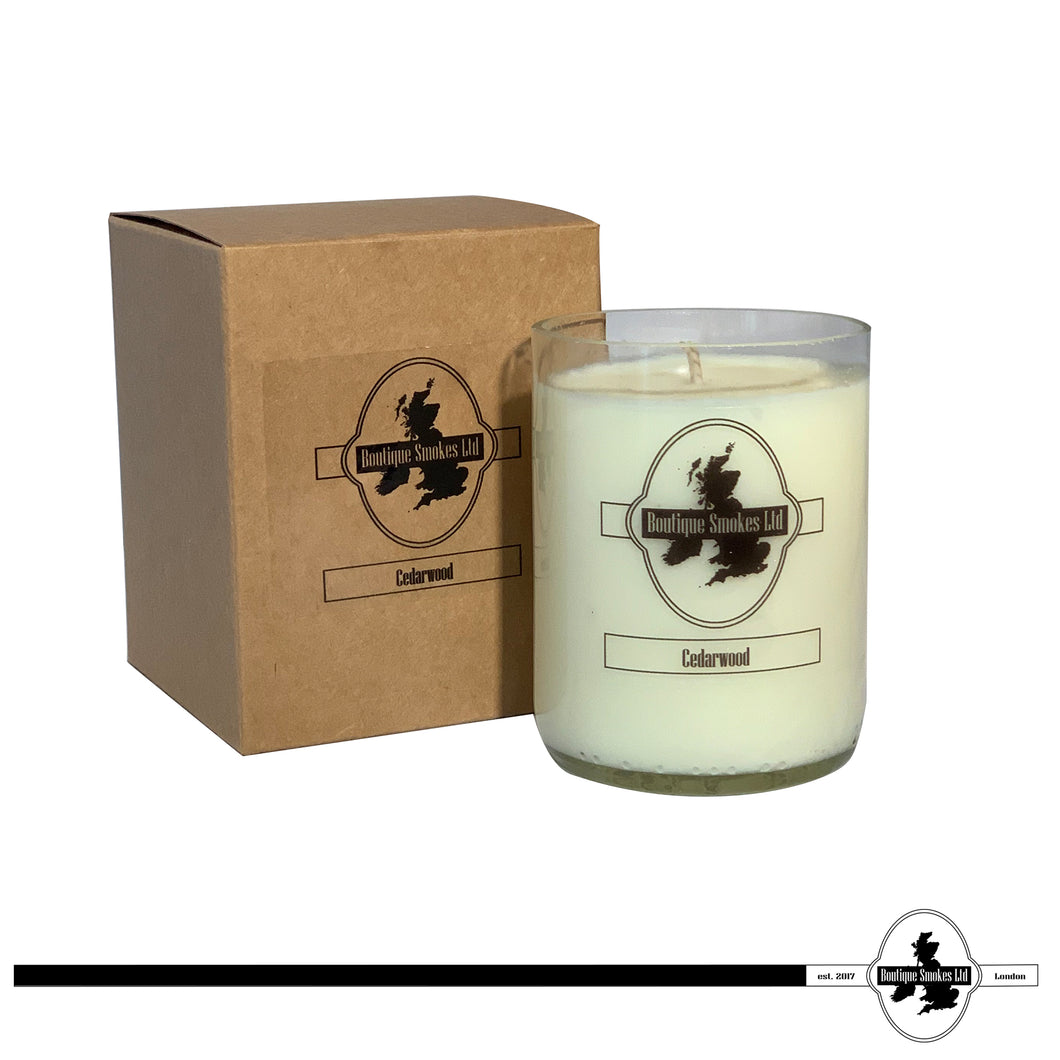 Cedarwood Smoking Candle by Half-Cut Candles