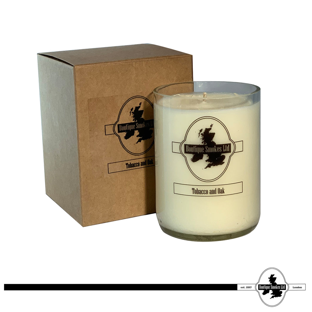 Tobacco & Oak Smoking Candle by Half-Cut Candles