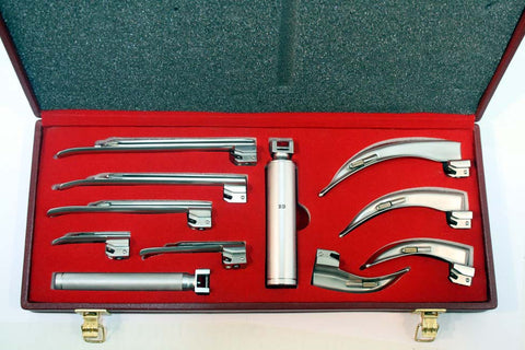 Bdeals EMT Laryngoscope Mac + Miller Set Anesthesia with Beautiful Box