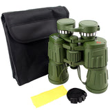Perrini Day/Night 60X50 Green Army Binoculars with Pouch High Quality