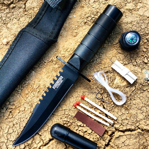 "8"" Heavy Duty Mini Survival Knife with Sheath"