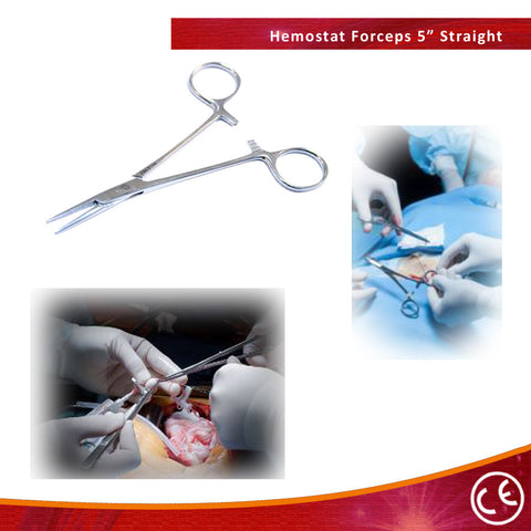 "Bdeals 5"" Straight Fly Fishing Locking Mosquito Hemostat Forcep Surgical Tools"