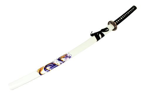 "Defender 40.5"" White Dragon Collectible Katana Samurai Sword"