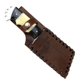 "Hunt-Down 8.5"" Full Tang Damascus Blade Hunting Knife with Sheath"