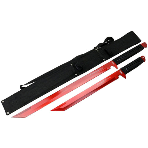 "27"" / 18"" Stainless Steel Red Blade Sword with Sheath"