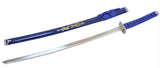 "40"" Blue Japanese Carbon Steel blade Samurai Sword Ninja Katana with Stand"
