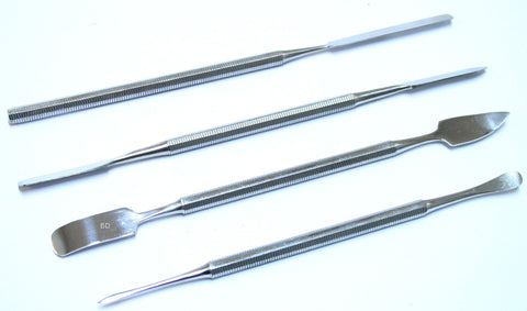 "Bdeals Dual Tip Dental Spatula Probe Pick Carver Tool 6"" 4PCs Set Surgical Instr"