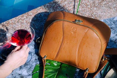 Bags made of vegan leather are waterproof and durable