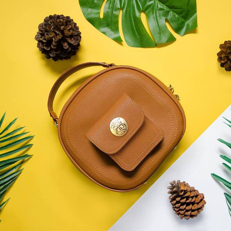 vegan leather handbag