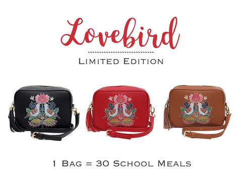 Limited Lovebird vegan bag collection