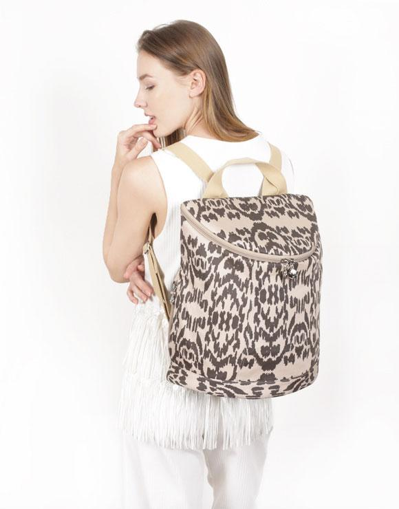 Demilune Canvas Backpack by Borboleta
