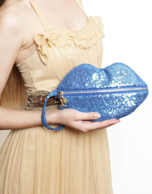 Sequined Sealed with a Kiss Clutch by Borboleta