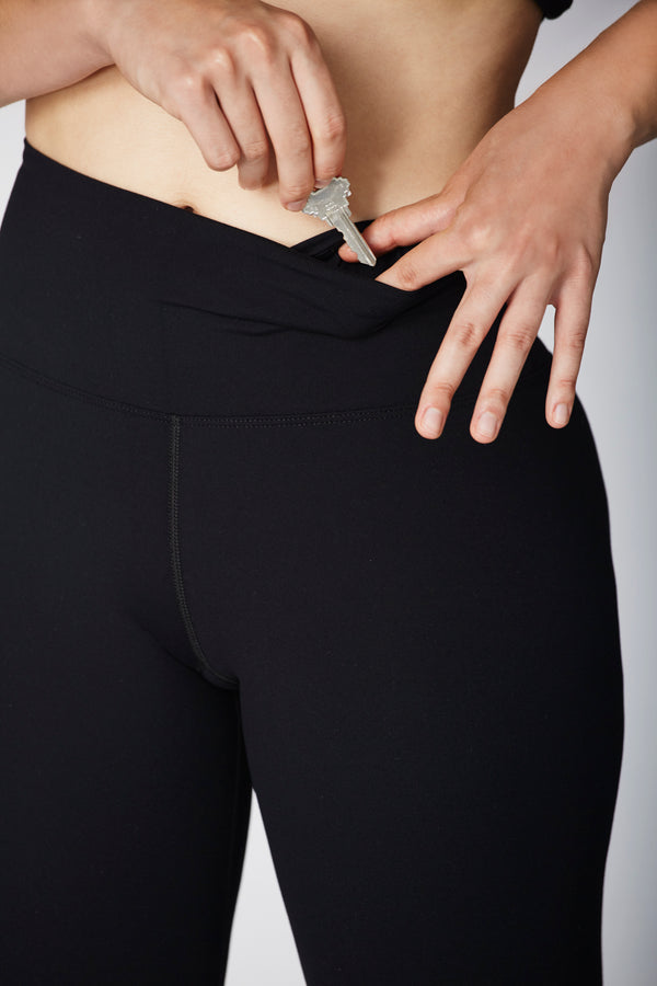 Everyday Use Supplex Nylon Black Legging